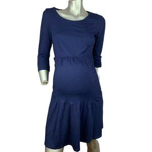 SERAPHINE | Maternity Navy Tiered Dress Size 6